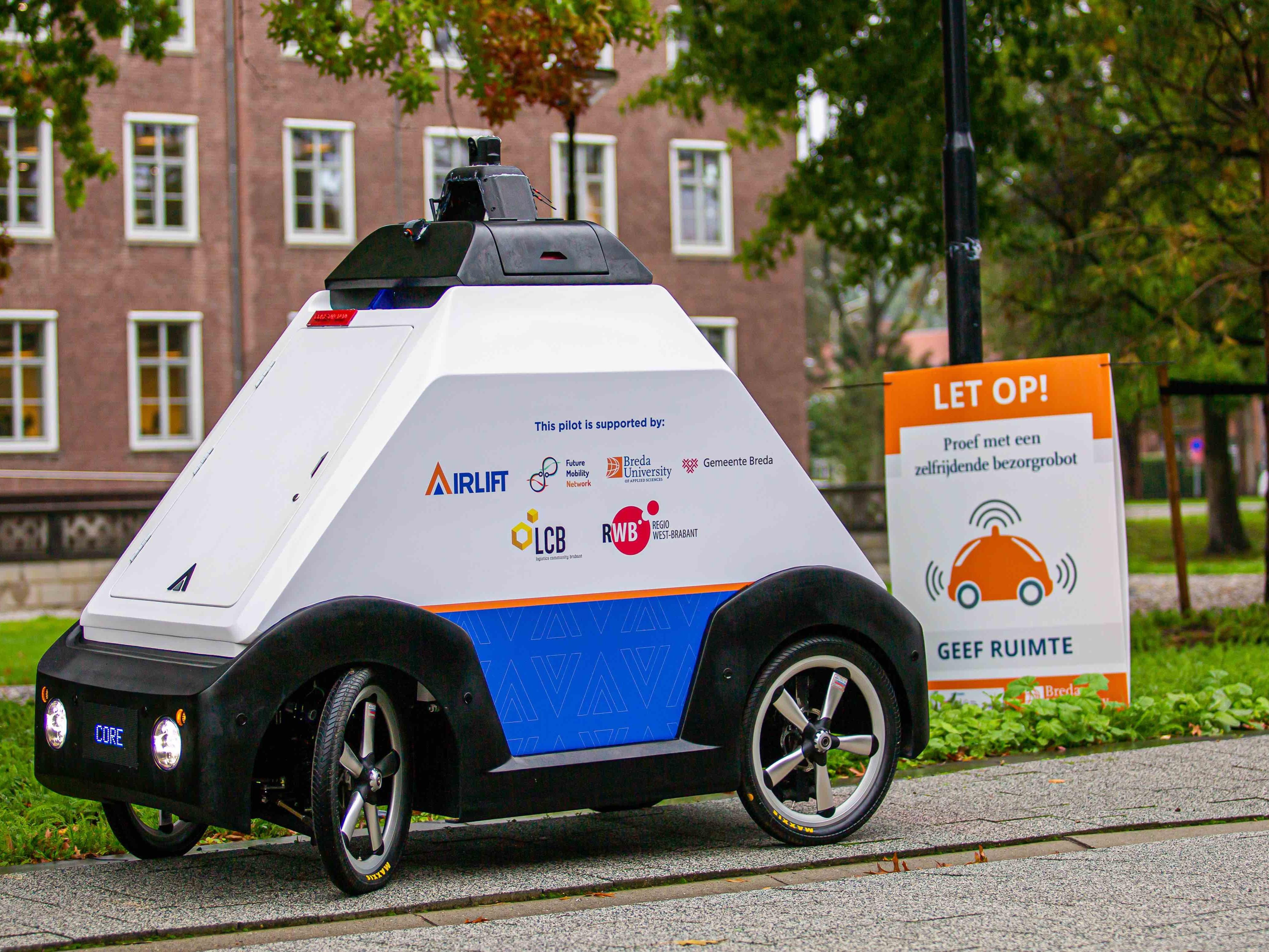 Breda University of Applied Sciences introduceert autonome bezorgrobot op campus