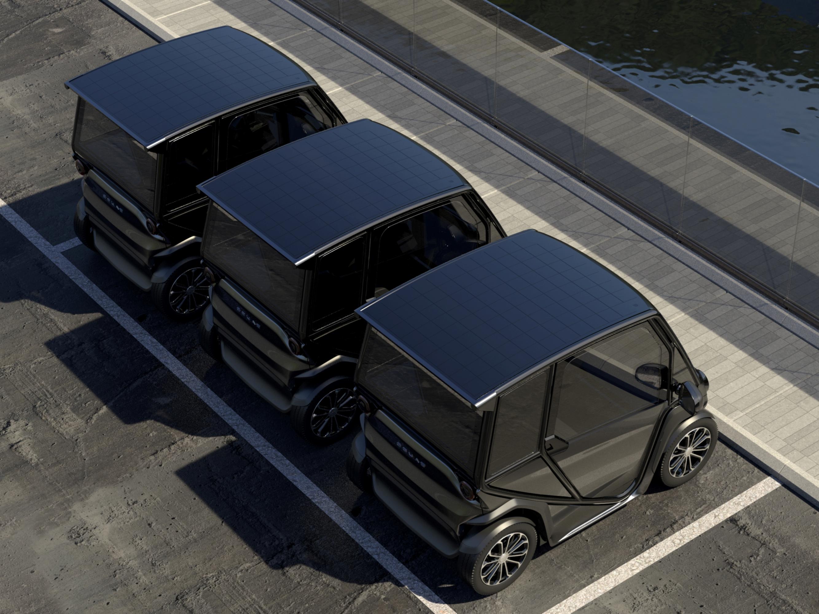 SQUAD, 's werelds eerste Zonne- Stadsauto komt eraan.  De ultieme oplossing voor gedeelde mobiliteit