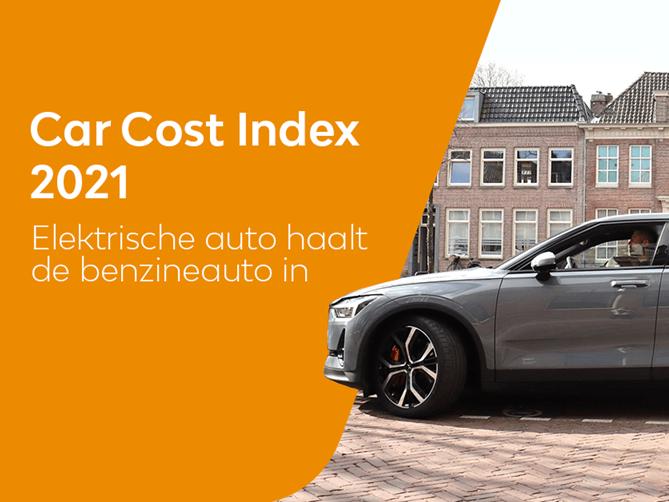 Car Cost Index 2021: elektrische auto haalt de traditionele benzineauto in
