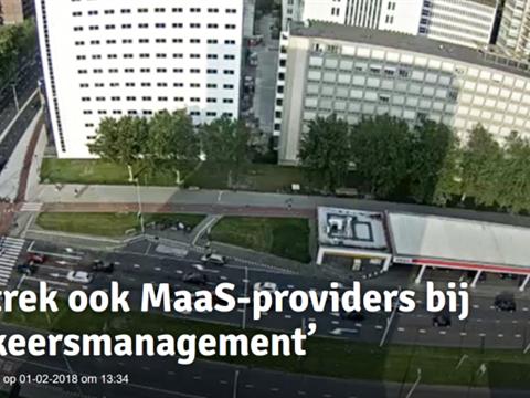 'Betrek ook MaaS-providers bij verkeersmanagement'