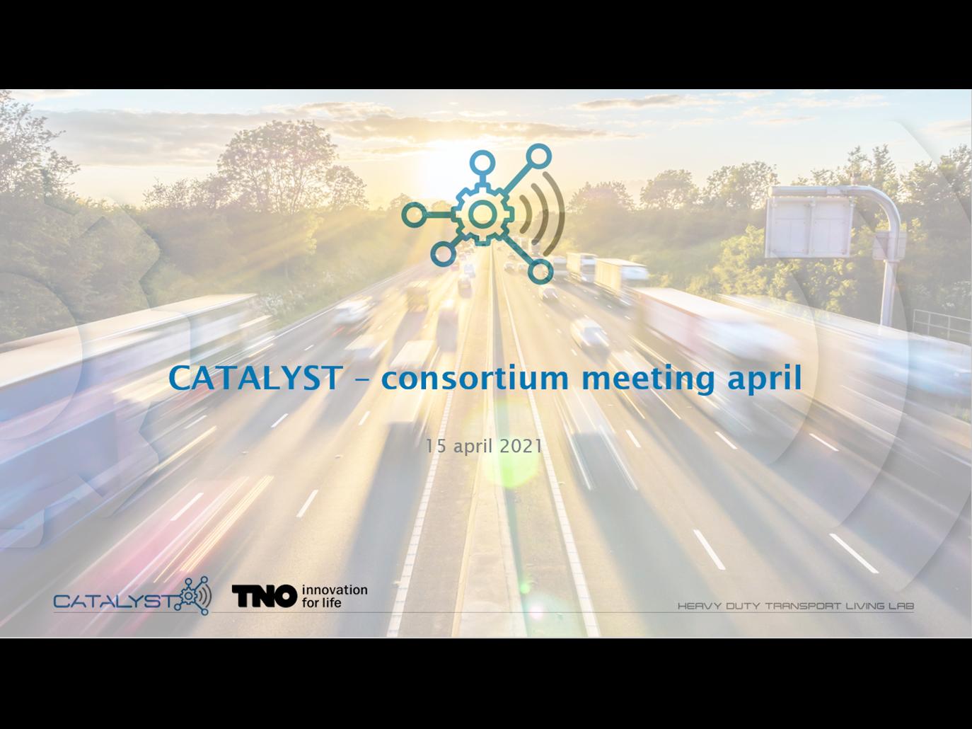 Catalyst consortiumbijeenkomst 15 april