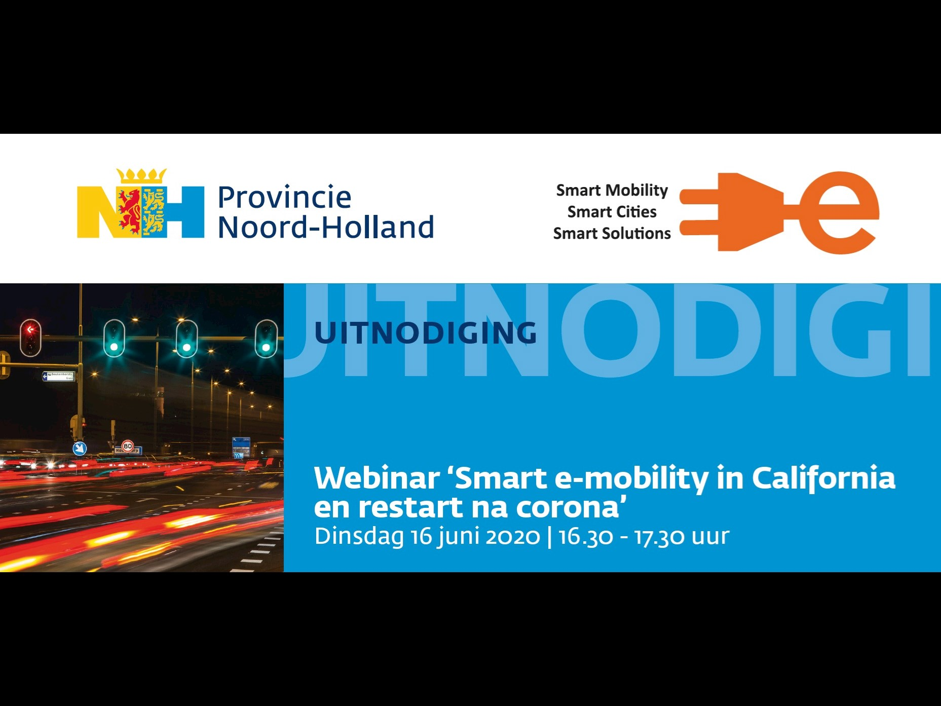 UITNODIGING: Webinar 'Smart e-mobility in California en restart na corona'