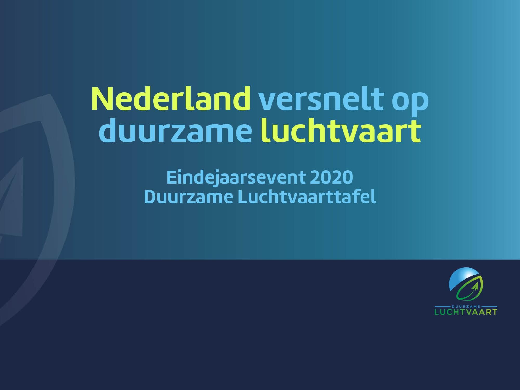 Eindejaarsevent webinar/film/presentaties 'Nederland versnelt op duurzame luchtvaart. Check jij in?'