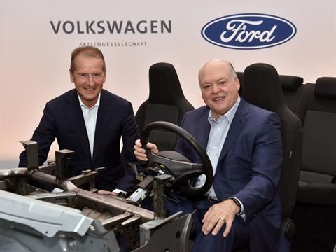 Volkswagen en Ford breiden samenwerking uit