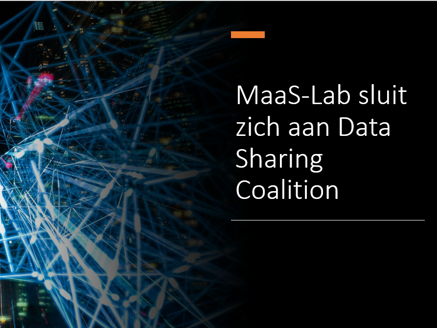 MaaS-Lab sluit zich aan Data Sharing Coalition