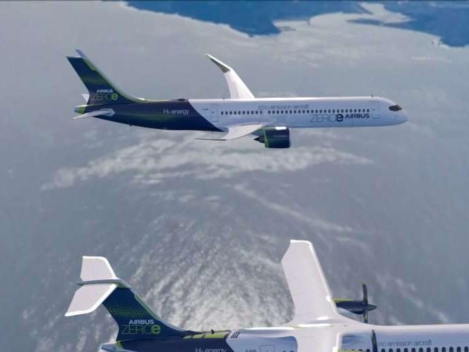Airbus presenteert conceptmodellen van uitstootvrije waterstofvliegtuigen