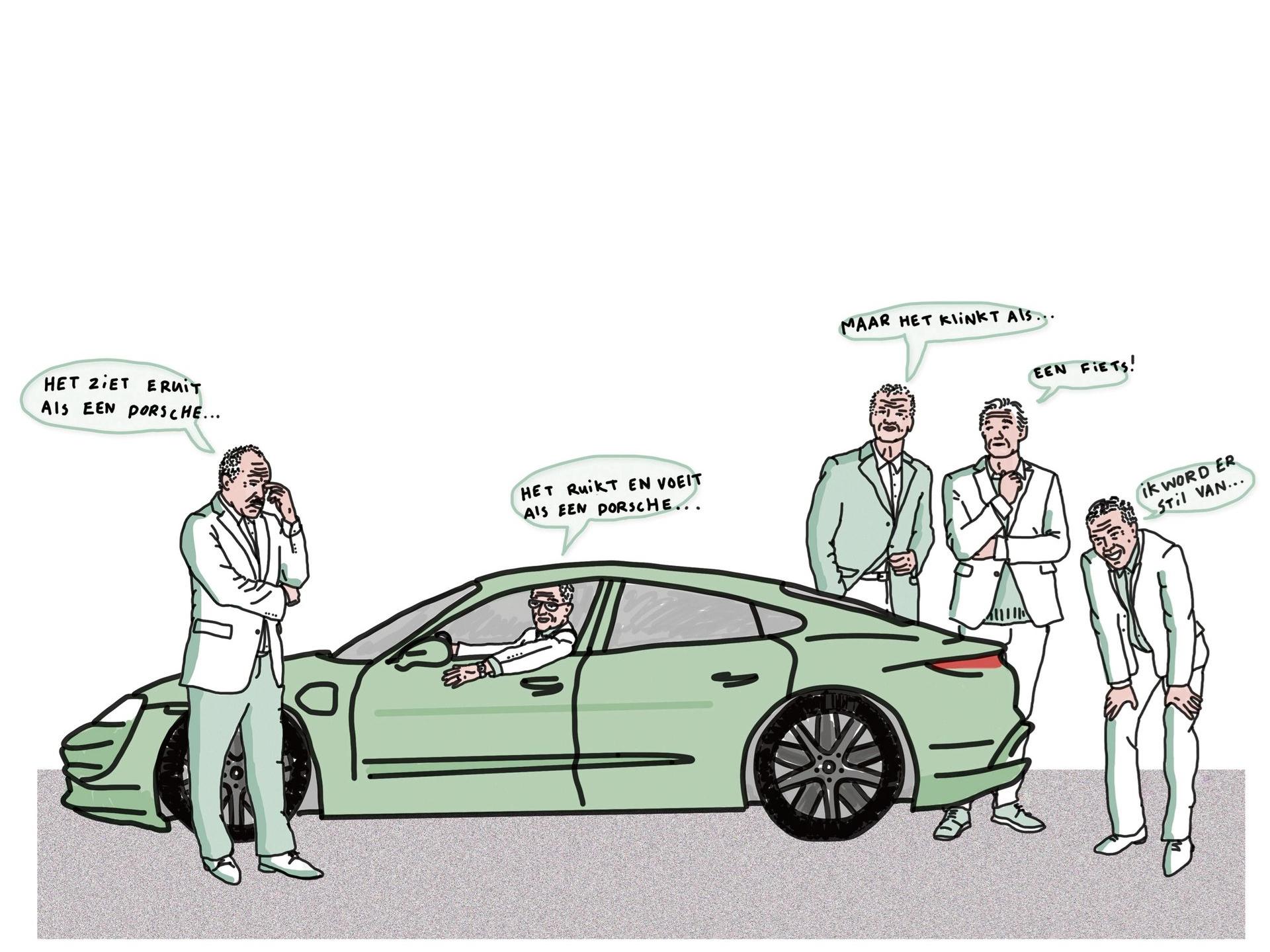 Een fluisterstille Porsche, dat is voor fans even wennen