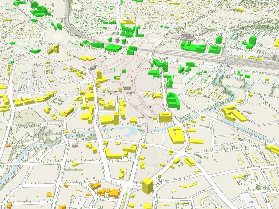 Atlas Bereikbare stad