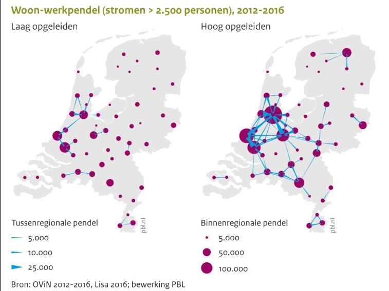 Dagelijkse verplaatsingspatronen: intensivering van stedelijke netwerken?