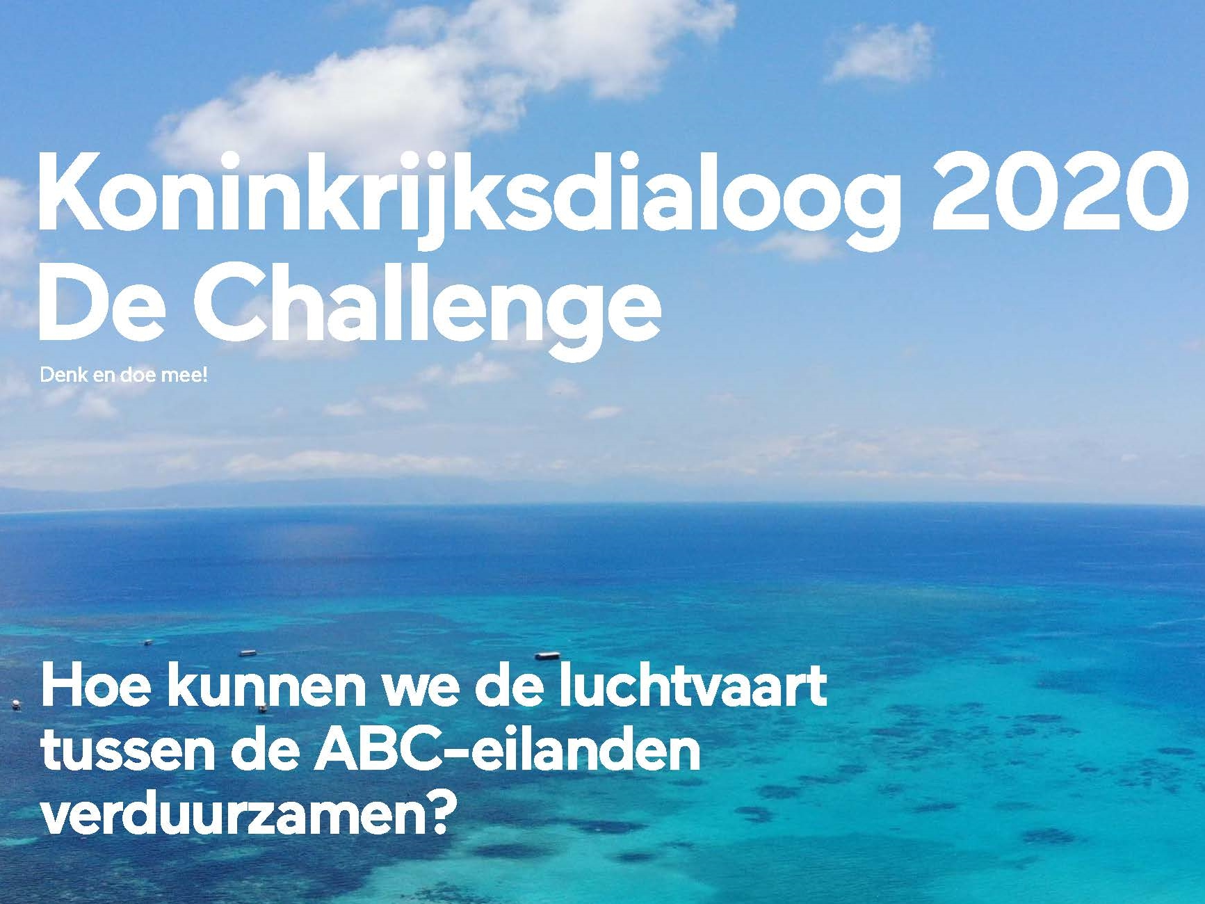 12 januari 2021: deadline creatieve ideeën challenge 'together we can fly for ABC' !
