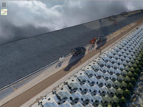 Inspectie Levvel-blocs Afsluitdijk