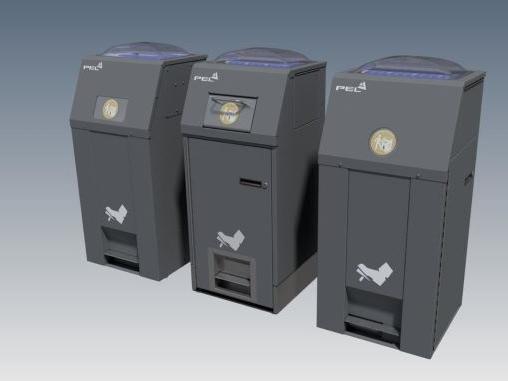 Solar powerd compacting Bins