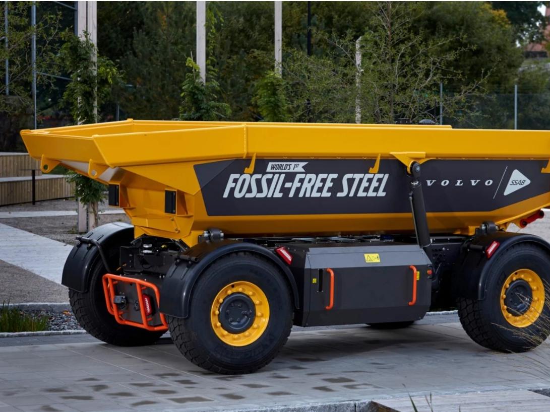 Dit is hem: het eerste voertuig van groen staal gemaakt van waterstof, gebouwd door Volvo